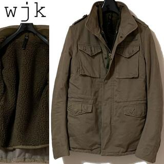 wjk - wjk ボアライナー付 デストロイ コットン ツイル ミリタリー ジャケット M