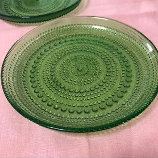 イッタラ(iittala)の✨美品✨ イッタラ カステヘルミ プレート2枚 17cm グリーン(食器)