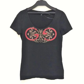 グッチ(Gucci)のグッチ サイズXS レディース - 黒×マルチ(カットソー(半袖/袖なし))