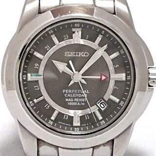 セイコー(SEIKO)のセイコー - 8F56-00F0 メンズ シルバー(その他)