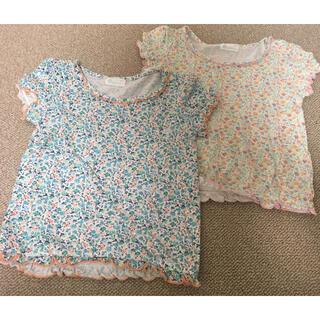 コンビミニ(Combi mini)のコンビミニ 半袖 花柄Tシャツ 90サイズ 2枚セット(Tシャツ/カットソー)