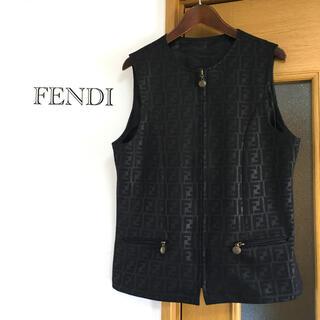 フェンディ(FENDI)の美品 レア ヴィンテージ  FENDI jeans ズッカ柄 ベスト ジレ(ベスト/ジレ)