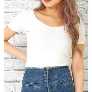 アナップラティーナ(ANAP Latina)のUVネック前後2wayタイトフィットトップス(Tシャツ(半袖/袖なし))