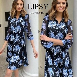 リプシー(Lipsy)のLipsy フラワーシャツドレス(ミニドレス)