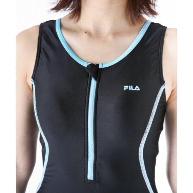 FILA(フィラ)の◆FILAフィラ・オールインワン・フィットネスワンピース水着・9号M・黒ブルー レディースの水着/浴衣(水着)の商品写真