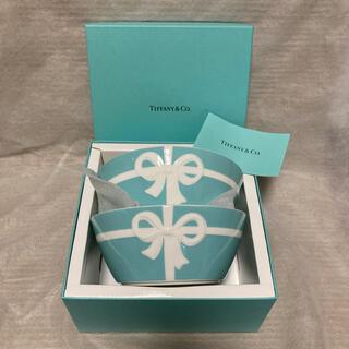 Tiffany & Co. - ティファニー ブルーボックス ボウル 2個 新品 ブルーリボン リボン 食器