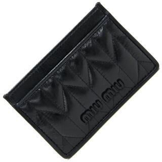 miumiu -  ミュウミュウ カードケース 5MC208 ブラック 新品