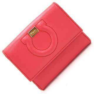 フェラガモ(Ferragamo)の フェラガモ Wホック財布 ガンチーニ GJ-22 レッド(財布)
