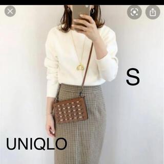 ユニクロ(UNIQLO)のUNIQLO♡ダブルフェイススウェットシャツ オフホワイト S(トレーナー/スウェット)