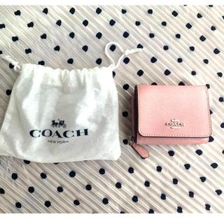 コーチ(COACH)のピンク✧︎COACH✧︎ミニ財布✧︎送料込(財布)