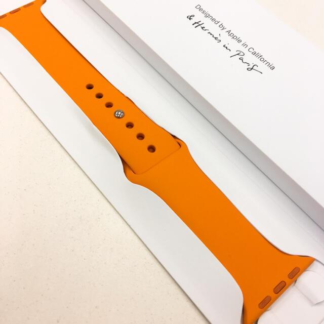 Apple Watch(アップルウォッチ)のアップルウォッチ エルメス スポーツバンド 44mm Apple Watch メンズの時計(ラバーベルト)の商品写真