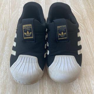 アディダス(adidas)のアディダス キッズスニーカー スーパースター 16 16.5(スリッポン)