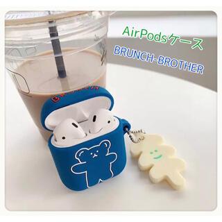 ♡ Airpods ケース シリコン エアーポッズ キャラクター 韓国雑貨(ヘッドフォン/イヤフォン)