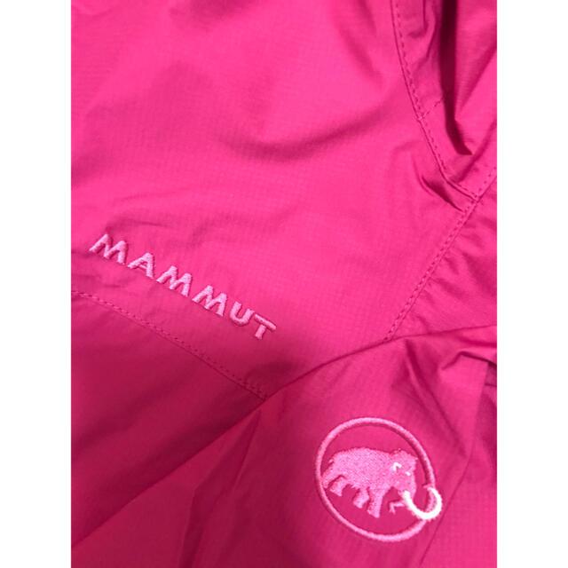Mammut(マムート)の新品 レディースL マムート マイクロレイヤー フード付ジャケット ピンク スポーツ/アウトドアのアウトドア(登山用品)の商品写真