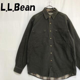 エルエルビーン(L.L.Bean)の【人気】エルエルビーン コットン ジャケット 裏地チェック柄 サイズS-REG(その他)
