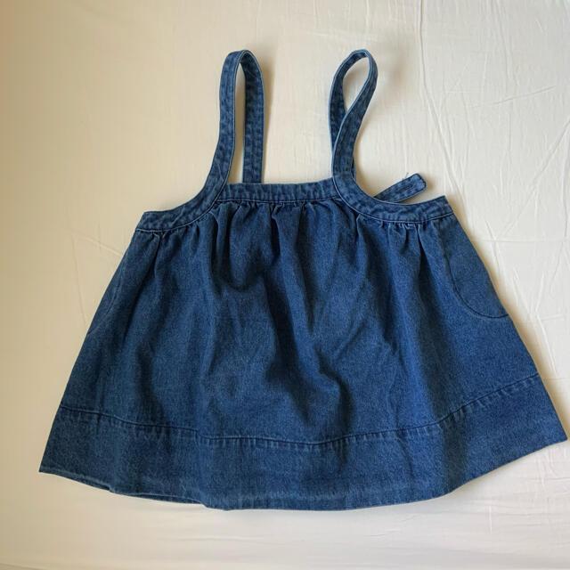 デニムスカート  6-7y キッズ/ベビー/マタニティのキッズ服女の子用(90cm~)(スカート)の商品写真