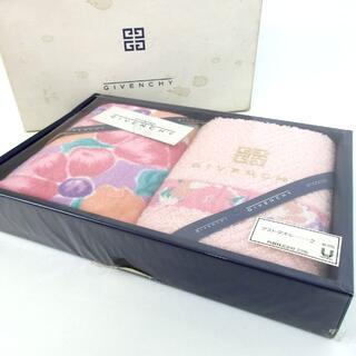 ジバンシィ(GIVENCHY)のジバンシィ 未使用 ゲストタオル 花柄 ハンドタオル コットン 12-150(タオル/バス用品)