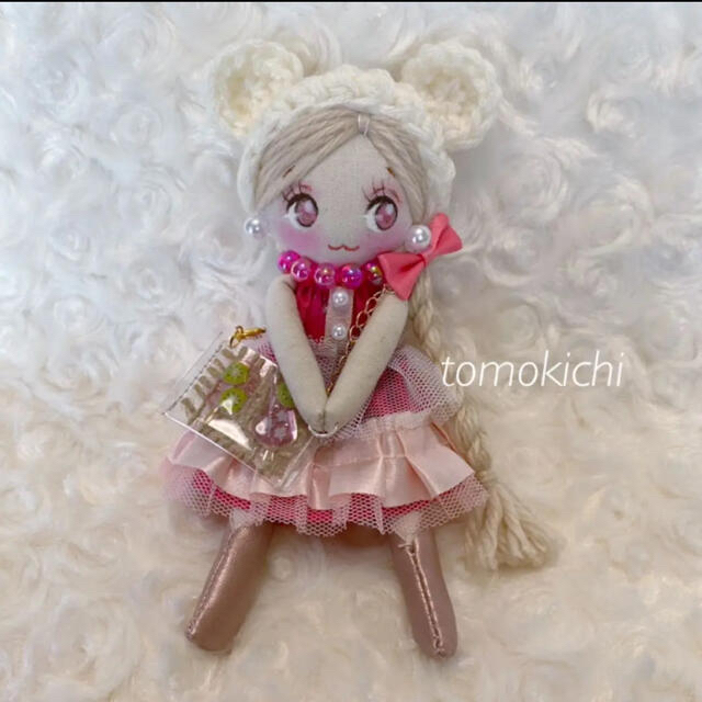 リピ割❤️2wayドールチャーム*バッグチャーム*ハンドメイドドール*878 ハンドメイドのぬいぐるみ/人形(人形)の商品写真
