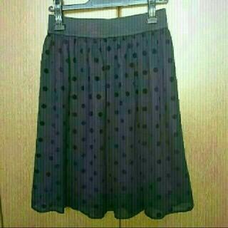 ギャラリービスコンティ(GALLERY VISCONTI)のギャラリービスコンティ🎀ドット柄スカート(ひざ丈スカート)