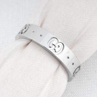 Gucci - グッチ GUCCI アイコンリング Au950(18金) 指輪 (U00008)