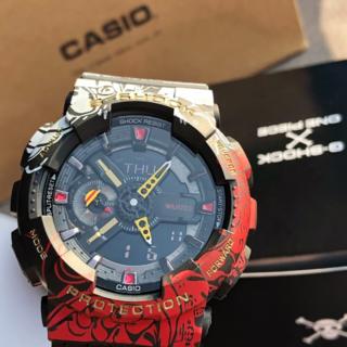 カシオ(CASIO)の海賊王G-SHOCK ONE PIECE コラボ GA-110JOP-1A4JR(腕時計(デジタル))