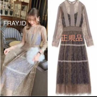 フレイアイディー(FRAY I.D)のFRAY.ID ピンタックシフォンワンピース ドレス(ロングドレス)