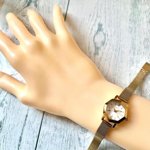 agete(アガット)の【動作OK】agete アガット 腕時計 オクタゴン イエローゴールド レディースのファッション小物(腕時計)の商品写真