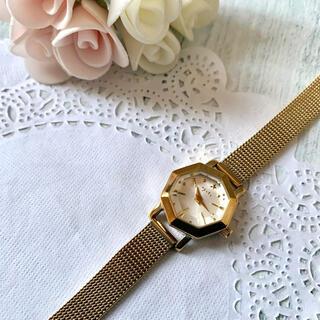 【動作OK】agete アガット 腕時計 オクタゴン イエローゴールド