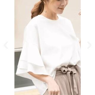 値下げしました☆フレア七分袖ブラウス ホワイト(シャツ/ブラウス(長袖/七分))