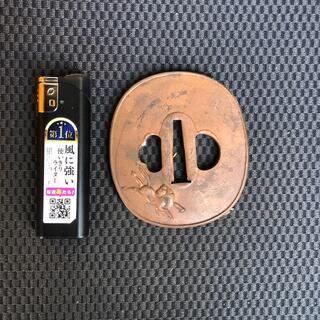 a29 馬赤銅鍔 送料無料(武具)