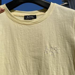 A.P.C - a.p.c アーペーセー tシャツ イエロー ロゴ 黄色