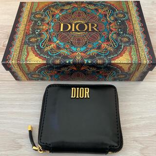 ディオール(Dior)のDior ディフェンス 黒 コンパクト財布(財布)