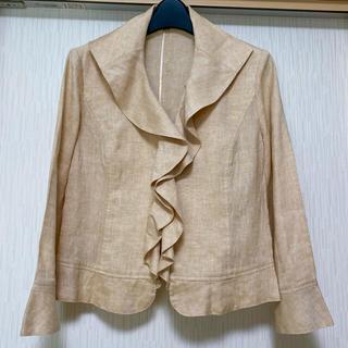 NARACAMICIE - ナラカミーチェ リネン素材のフリルジャケット
