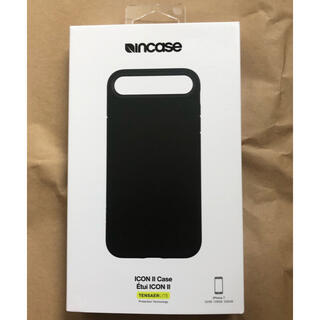 Incase iphone 7&8&se icon 2 case レザー調 黒