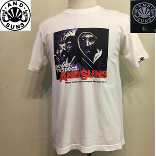 アンドサンズ(ANDSUNS)のアンドサンズ Tシャツ TEE ホワイト  Mサイズ(Tシャツ/カットソー(半袖/袖なし))