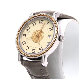 エルメス(Hermes)の【HERMES】エルメス 時計 'セリエ' コンビモデル アイボリー ☆極美品☆(腕時計)