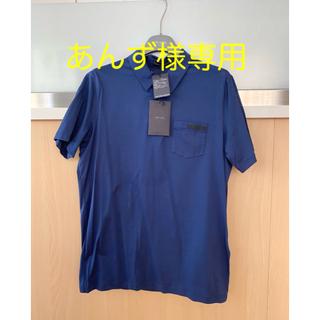プラダ(PRADA)のPRADA メンズ 新品未使用 ネイビーシャツ(ポロシャツ)