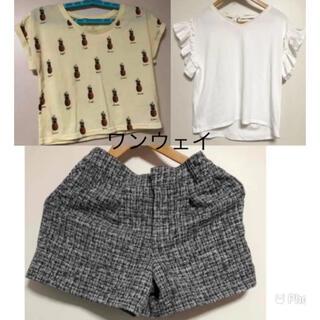 ワンウェイ(one*way)のトップスショートパンツ(Tシャツ(半袖/袖なし))