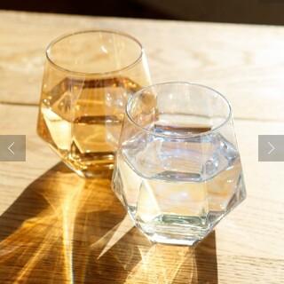 スリーコインズ(3COINS)の3coins 六角 オーロラグラス 5セット(グラス/カップ)