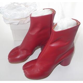 マルタンマルジェラ(Maison Martin Margiela)のマルジェラ red 足袋ブーツ tabi size36 18SS(ブーツ)