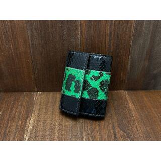 【金運アップに!】珍しいアナコンダとパイソン使用のカードサイズミニ財布 (財布)