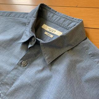 エディフィス(EDIFICE)のEDIFICE 日本製 ブルー シャツ ストレッチ(シャツ)