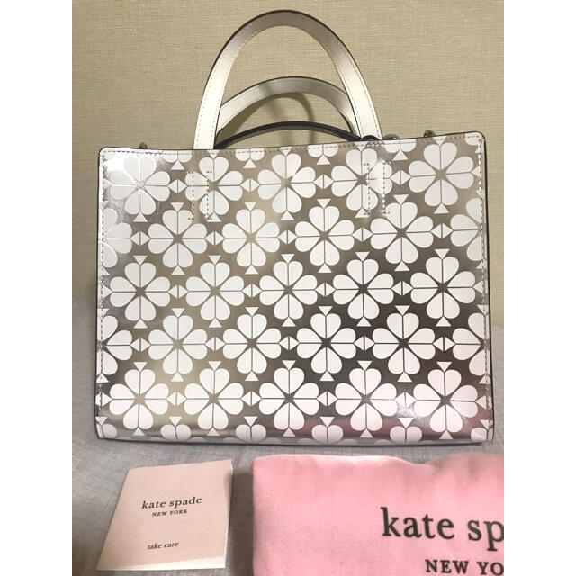 kate spade new york(ケイトスペードニューヨーク)のKate Spade NY ケイトスペード Sam Spadeホワイトシルバー  レディースのバッグ(ハンドバッグ)の商品写真