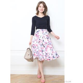 JUSGLITTY - ②ジャスグリッティー  ペイントフラワースカート 花柄スカート ②