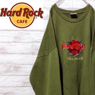 Champion - Hard Rock Cafe ハードロックカフェ スウェット トレーナー カーキ