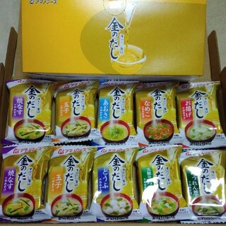 アサヒ(アサヒ)のアマノフーズ 金のだしお味噌汁10食(箱なし賞味期限2021/1 )(インスタント食品)