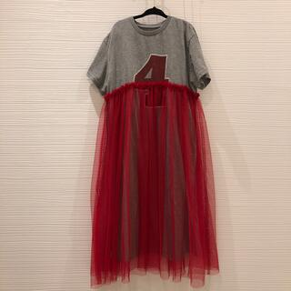 MARKEY'S - チュール付き Tシャツ ワンピース 130