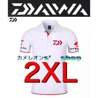 ダイワ(DAIWA)のDaiwa ダイワ ポロシャツ  ホワイト/レッド2XLサイズ(ウエア)