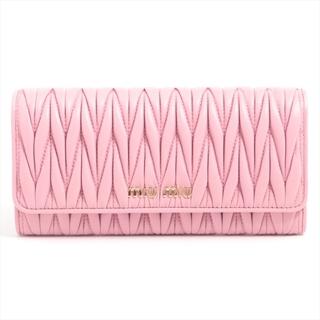 miumiu - ミュウミュウ  レザー  ピンク レディース 長財布