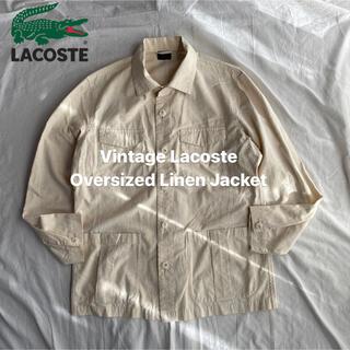 ラコステ(LACOSTE)のLacoste リネン ジャケット カバーオール キューバシャツ YAECA(カバーオール)